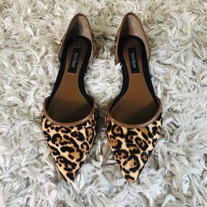 Leopard d'Orsay flats (size 8 women)